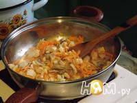 Приготовление риса с куриным филе и овощами: шаг 4
