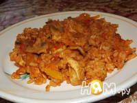 Приготовление риса с куриным филе и овощами: шаг 7