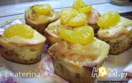 Маффины с  мандаринами и сыром Маскарпоне