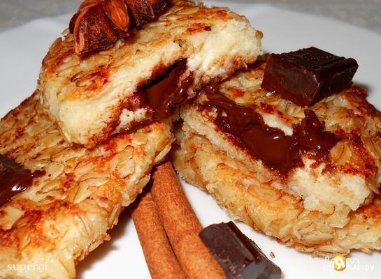 Рецепт Сырники с шоколадом в овсяных хлопьях