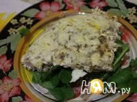 Приготовление омлета с креветками и грибами: шаг 10