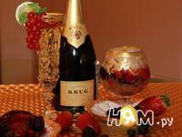 Приготовление ягод в желе из шампанского: шаг 3