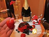 Приготовление ягод в желе из шампанского: шаг 4