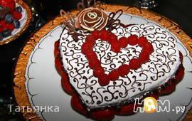"Торт из суфле  ""Валентинка"""