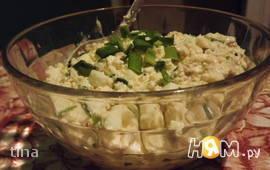 Салат с тунцом и творогом