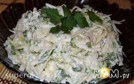 Салат из редьки и свежей капусты