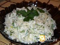 Приготовление салата из редьки и свежей капусты: шаг 6