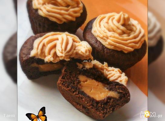 Шоколадные кексы с пудингом