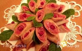 Блинчики с ягодным суфле