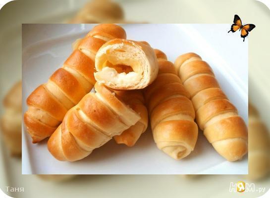 Рецепт Полосатые булочки с пудингом