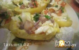 Картофельные лодочки с селедкой