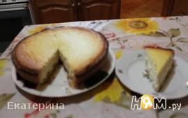 Творожный пирог с лимонной цедрой