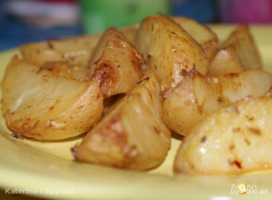 Запеченный картофель в горчичном маринаде