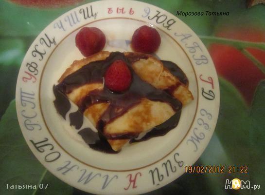 Рецепт Блины с мороженным