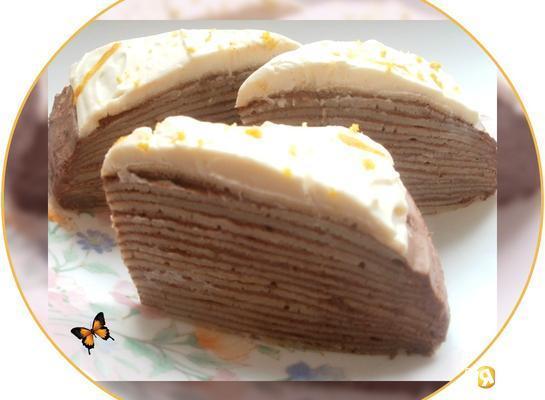 Блинный тортик с пудинговым кремом