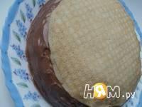 Приготовление блинного тортика с пудинговым кремом: шаг 3
