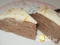 Приготовление блинного тортика с пудинговым кремом: шаг 5