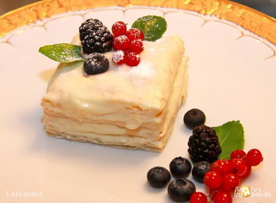 Десерт Мильфей  с кремом из маскарпоне