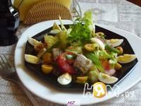 Приготовление салата нежного с сайрой: шаг 6
