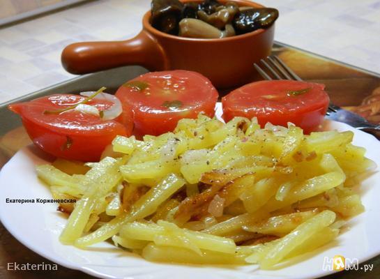 Рецепт Жареная картошка с салом