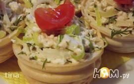Салат в корзинках