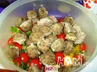 Приготовление салата Мясные шарики: шаг 11