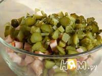 Приготовление салата с копченой куриной грудкой: шаг 1