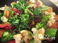 Приготовление теплого салата Весеннего: шаг 4