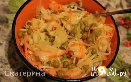 Постный салатик с квашеной капустой