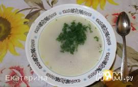 Сырный суп с копченой курочкой
