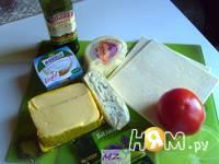 Приготовление треугольников с сыром: шаг 1