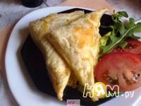 Приготовление треугольников с сыром: шаг 6