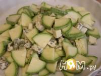 Приготовление кабачков с сыром Дор блю: шаг 3