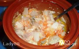 Рыбный горшочек с картофелем