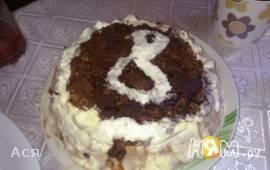 """Блинный торт """"8 марта"""""""