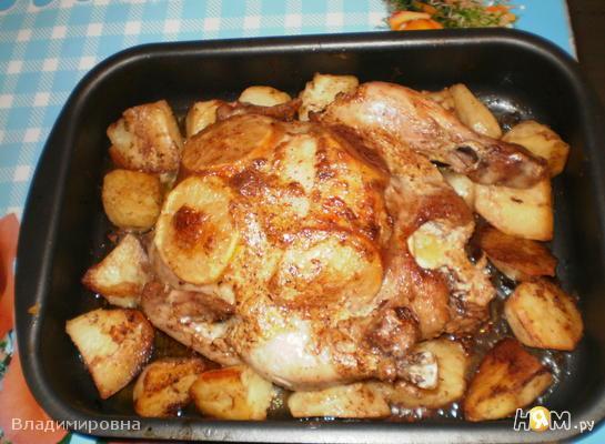 Курица с лимоном и картошечкой в духовке!!!