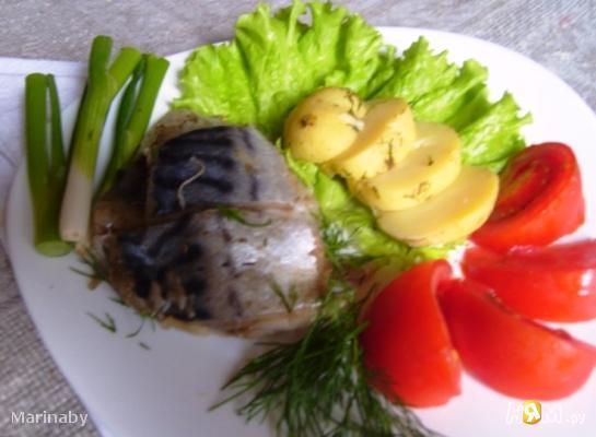 Рецепт Скумбрия сухого посола
