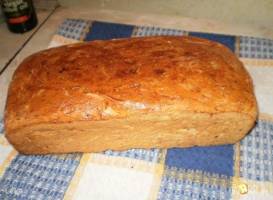 Хлеб с чесноком и укропом