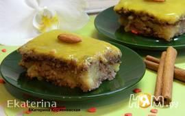 Овсяный торт с апельсиновым суфле