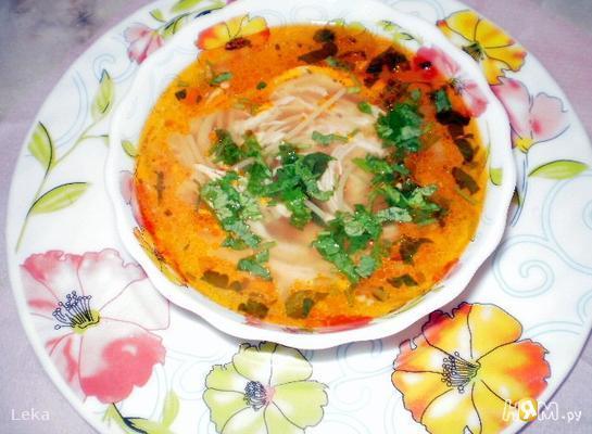Томатно - куриный суп