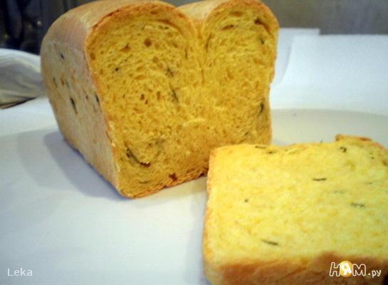 Тыквенный хлеб с зеленым луком