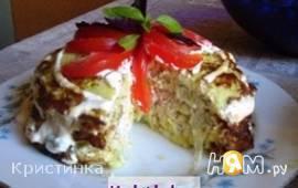 Овощной торт из кабачка