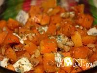 Приготовление тыквы запеченной с орехами и сыром: шаг 5