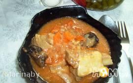 Телячьи  ребрышки в соусе