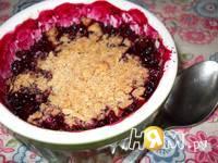 Приготовление ягодного крамбла с овсянкой и орехами: шаг 10