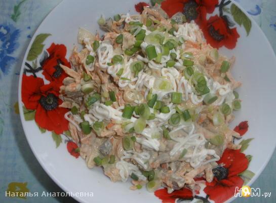Печёночно-морковный салатик