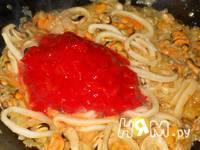 Приготовление спагетти с морепродуктами: шаг 14