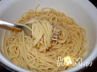 Приготовление спагетти с морепродуктами: шаг 16