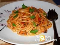 Приготовление спагетти с морепродуктами: шаг 18