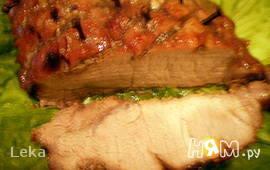 Свинина в брусничном соусе